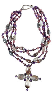 Silver and Bead Necklace