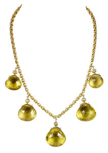18kt. Diamond and Gemstone Necklace