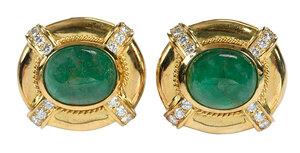 18kt. Diamond and Gemstone Earrings