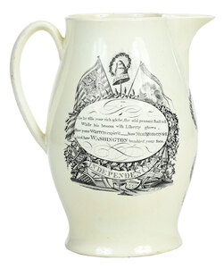 Liverpool Creamware Pitcher