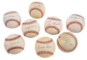 Eight Signed Baseballs