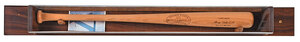 Babe Ruth Louisville Slugger Bat in Wall Display
