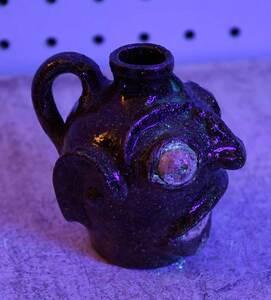 Rare Edgefield Stoneware Face Jug