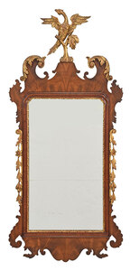 Chippendale Style Carved and Parcel Gilt Mirror