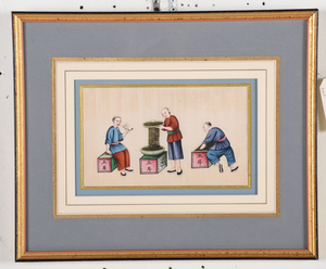 Four Framed Chinese Export Pith Paintings