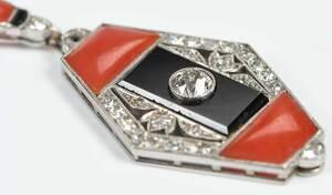 Boucheron Art Deco Platinum Pendant