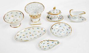 15 Piece Set of Miniature Porcelain Dishes