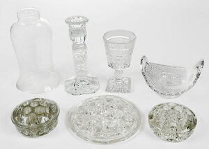 Assorted Group of 17 Clear Glass Objects