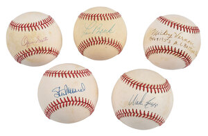 Five Assorted Signed Baseballs