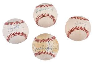 Four Orioles Signed Baseballs
