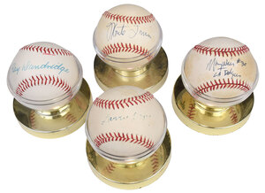 Four African American Players Signed Baseballs