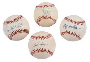 Four Pitchers Signed Baseballs