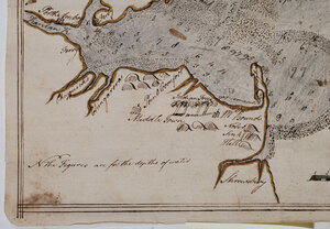 A Rare Map of the Harbor of New York by Survey