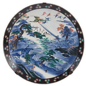 Monumental Imari Charger with Landscape
