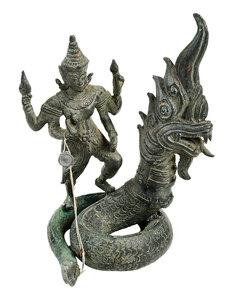 Southeast Asian Bronze Naga Figural Group
