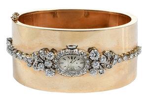 14kt. Diamond Bracelet with Watch