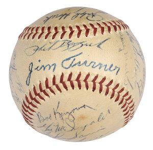 1953 New York Yankees Team Signed Baseball