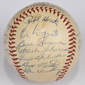1953 New York Yankees Team Signed Baseball