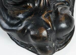 Chinese Patinated Bronze Daoshi Figure