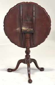 George III Mahogany Piecrust Tea Table
