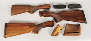 Three Rifle Stocks/S&W Handgun grips/Butt Plates