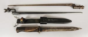German Bayonet, US Scabbard/Two Socket Bayonets
