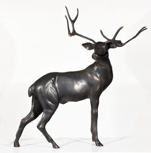 Large Cast Metal Figure of a Stag