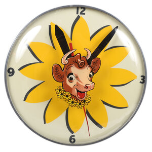 Vintage Borden Dairy Electric Wall Clock