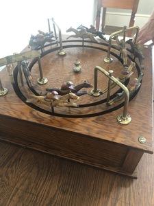 mechanical jeu de course horse racing/steeplechase game