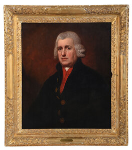 portrait of man in black and red