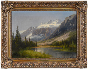 Hermann Herzog, mountains and river