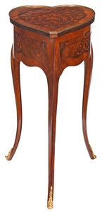 Louis XV Style Marquetry Inlaid Petite Commode