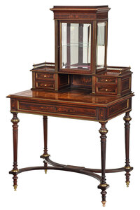 Louis Philippe Rosewood Veneered Ladies Desk