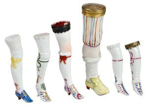 Group of 12 Porcelain Flohbiens or Flea Legs