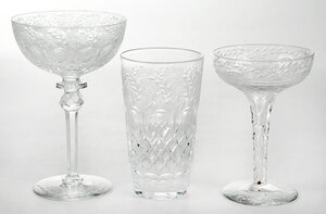 33 Pieces of Assorted Cut Glass Drinkware