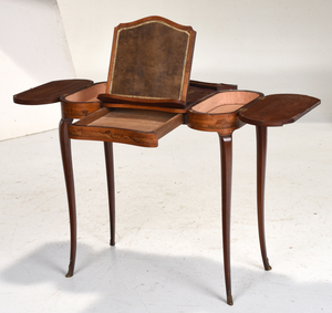 Louis XVI Style Marquetry Inlaid Writing Desk