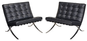 Pair Mies van der Rohe Knoll Barcelona Chairs