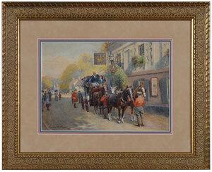 Charles E. Flower, horse drawn carriage