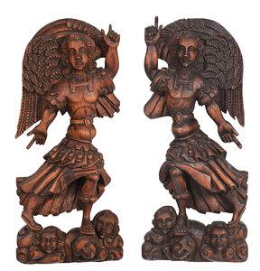 large carved wood figure