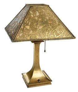 Tiffany Studios Gilt Bronze Desk Lamp