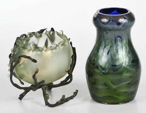 Two Art Glass Vases, Including Loetz Tatiania