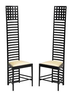 Pair Charles Rennie Mackintosh Hill House Chairs