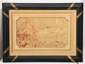 Three Framed Marbled Paper Works