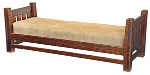 L. and J.G. Stickley Arts and Crafts Oak Daybed