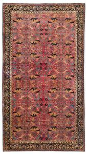 Palace Size Kerman Carpet Hunting Scene