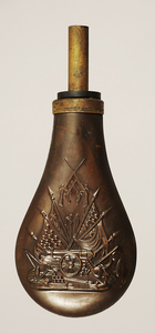 Copper and Brass Black Powder Horn