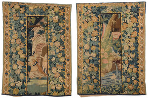 Two Verdure Tapestry Panel Fragments