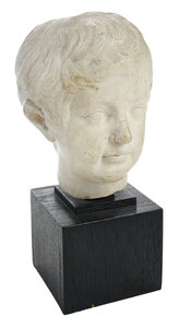 Roman Sculptural Head of a Boy