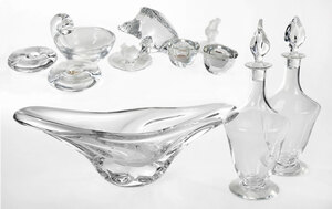 Eleven Pieces Clear Crystal, Daum and Baccarat