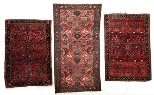 Three Hamadan Rugs